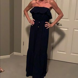Juicy Couture Navy Strapless maxi dress x-small